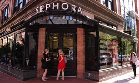 A Sephora store in Washington. SZA reported an incident of apparent racial profiling at a Los Angeles branch.