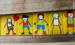 Bodies of work ... a piece by Stik in London.