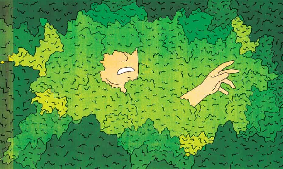Weed addiction illustration