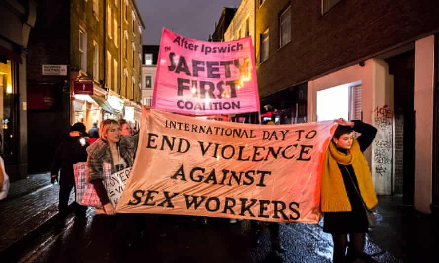 Sex workers protest, London, 2014