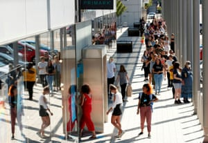 Back in June, people queued to enter the Primark store in Milton Keynes once it reopened