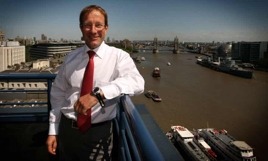 Richard Desmond at his London office overlooking the Thames in 2010