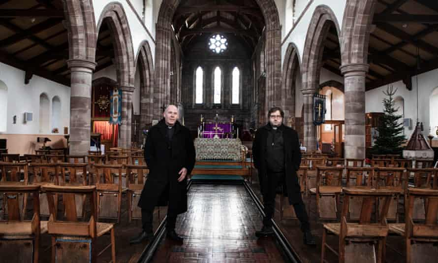 Pastor Mick Fleming, left, and Father Alex Frost of St Matthew's Church, Burnley