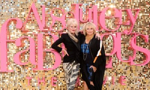 Joanna Lumley and Jennifer Saunders at the Absolutely Fabulous world premiere