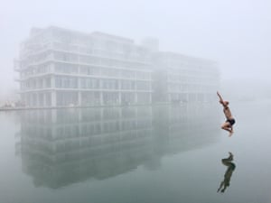 An unofficial Paris Wild Swimming Group swims illegally, and often at night, in Parisian canals