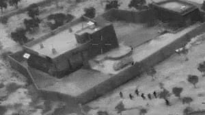 Barisha, SyriaThis still image from video released by the US Department of Defence shows US commandoes advancing on the compound of Islamic State leader Abu Bakr al-Baghdadi.