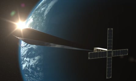 A design concept rendering for Trevor Paglen's Orbital Reflector, co-produced and presented by the Nevada Museum of Art.