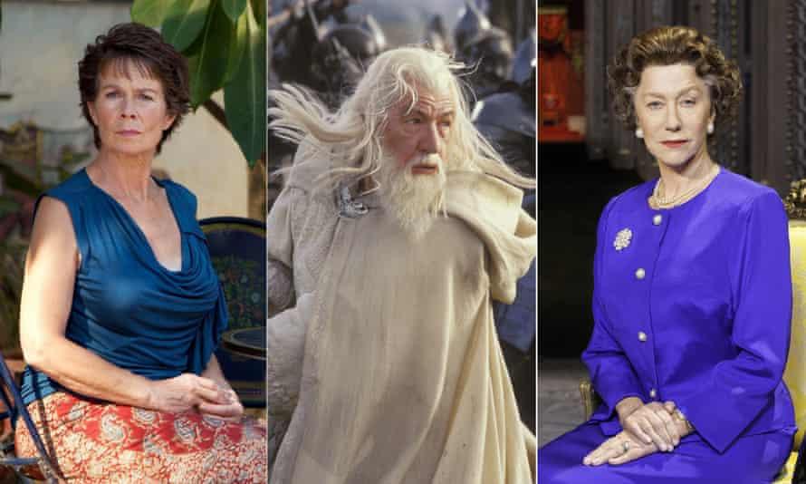 Celia Imrie, Ian McKellen and Helen Mirren