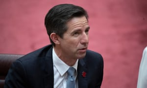 Finance and trade minister and Senate leader Simon Birmingham.
