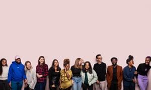 Dream team: from left, Hafsa Zayyan, Jeremiah Emmanuel, Lydia Weigel, Kate McQuaid, Natalia Cacciatore, Sharifah Grant, Alice Spencer, Emma Wallace, Tom Avery, Derek Owusu, Lemara Lindsay-Prince and Theophina Gabriel