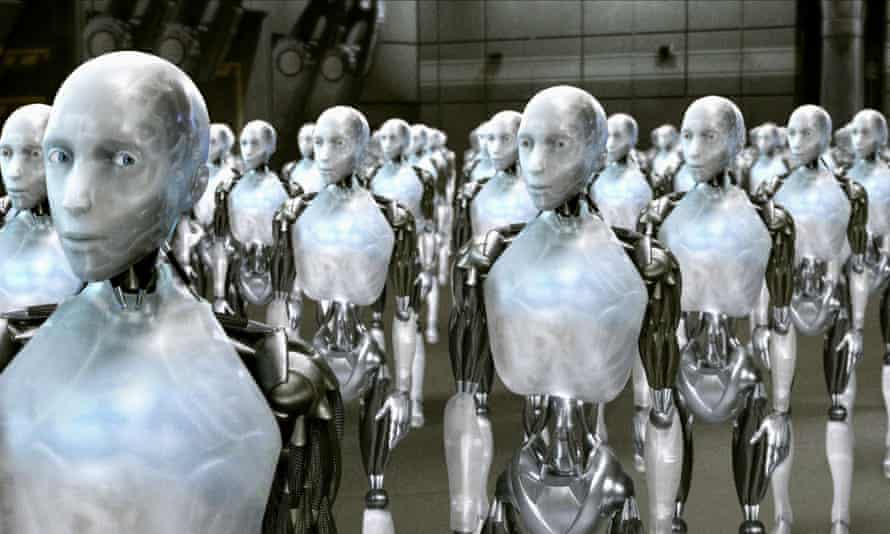 Humanoid robots in the film I, Robot