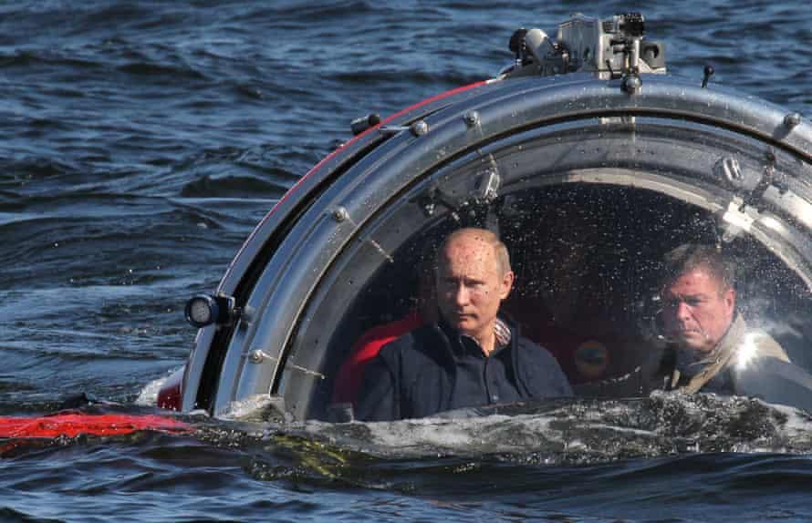 Vladimir Putin in a submersible.