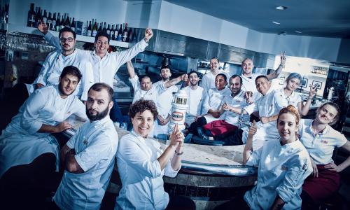 Barrafina staff with executive chef Nieves Barragán Mohacho, front centre.