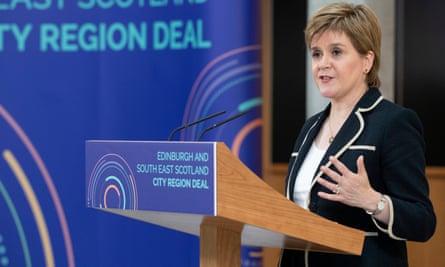 Nicola Sturgeon speaks at the University of Edinburgh