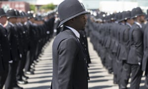 Metropolitan police cadets on their passing out parade.