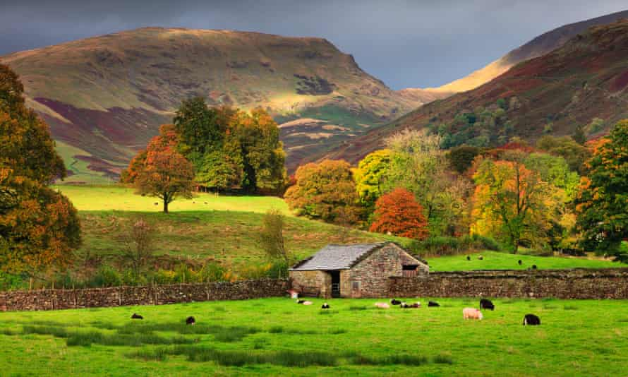 Autumn in Grasmere, in the Lake District national park.