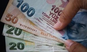 Turkish lira currency.