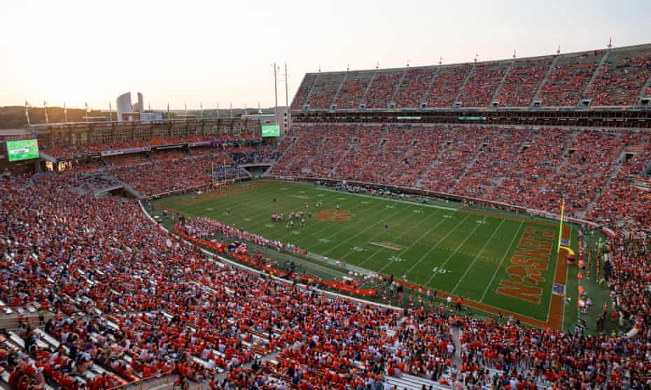 The permanent population of Clemson could fit into Memorial Stadium several times over