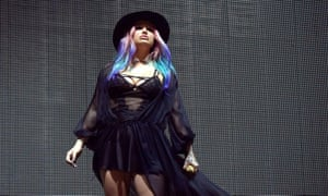 Kesha … on stage at Coachella in April.