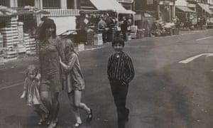 Beryl Bainbridge with her children in Camden, London, in 1968.