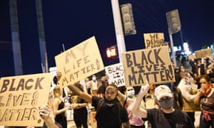 Protesters attend a demonstration demanding justice for the death of George Floyd  in Las Vegas, Nevada.