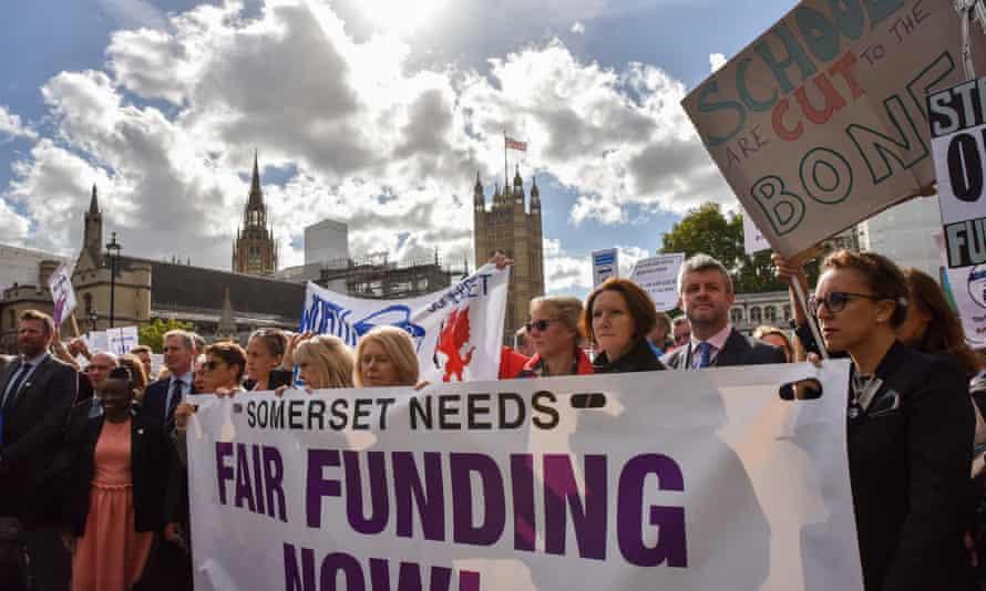 Headteachers march in Downing Street