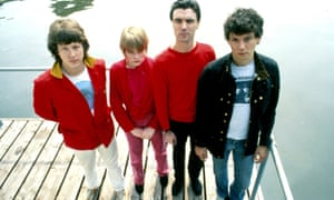 Talking Heads pictured in Amsterdam, June 1977. Chris Frantz, Tina Weymouth, David Byrne, Jerry Harrison.