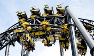 The Smiler rollercoaster ride at Alton Towers.