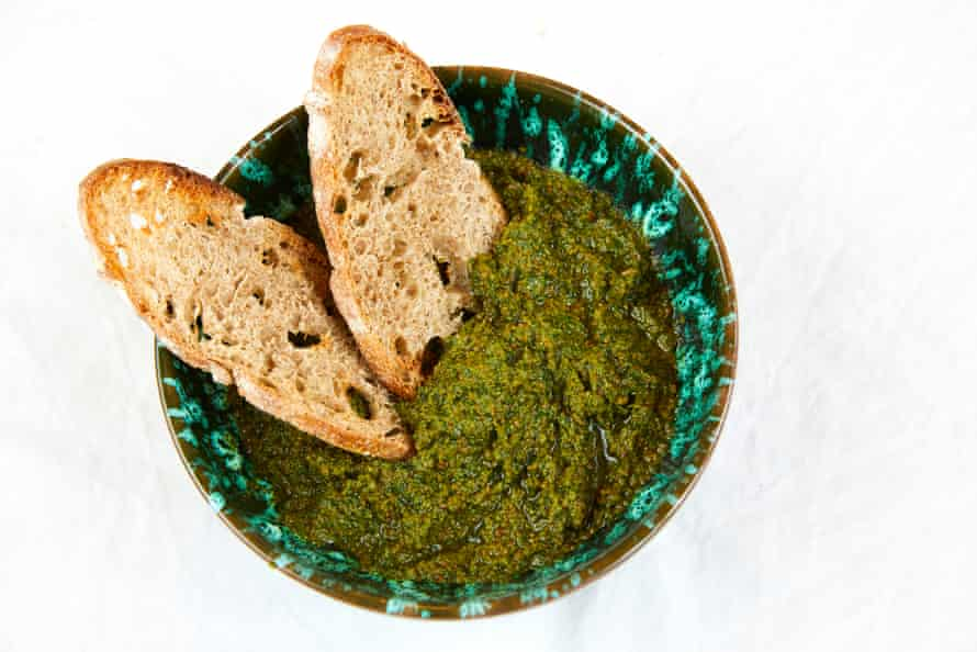 Tamal Ray's wild garlic pesto.