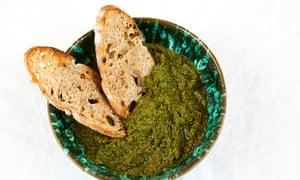 Tamal Ray wild garlic pesto