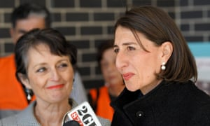 NSW Minister for family and community services Pru Goward with premier Gladys Berejiklian