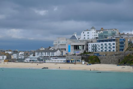 A view of Tate St Ives from the sea.