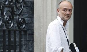 Dominic Cummings, a key adviser to Boris Johnson, entering Downing Street today.