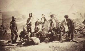 Roger Fenton's photo of the 8th Hussars Cooking Hut.