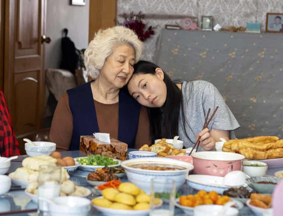 Zhao Shuzhen, left, and Awkwafina in The Farewell.