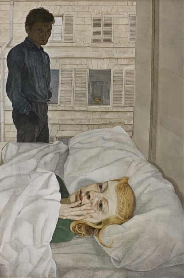 Hotel Bedroom, 1954, by Lucian Freud.