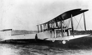 The converted Vickers Vimy bomber used by John Alcock and Arthur Brown to make the first non-stop transatlantic flight in 1919