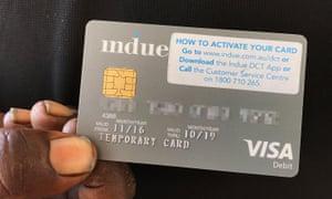 A cashless welfare card
