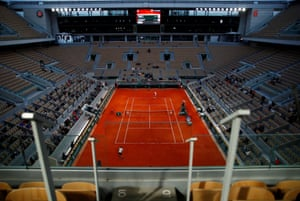 The view from the stands of Alexander Zverev's match against Pierre-Hugues Herbert.