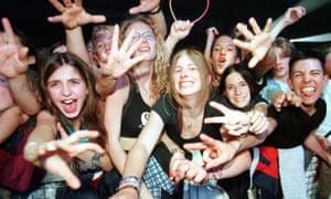 Spice Girls fans in 1998.