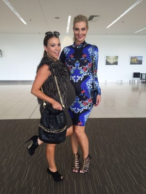Two of the mothers from the Australian reality TV show Yummy Mummies