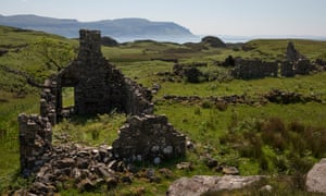 The ruins of abandoned village Ormaig on Ulva