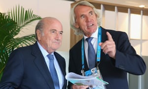 Fifa said the removal of Jiri Dvorak, pictured here with Sepp Blatter in 2014, was not related to his investigations into Russian state doping.