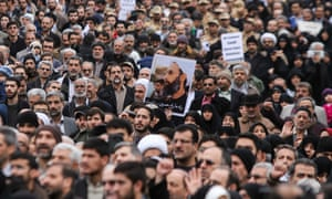A protest in Tehran after the execution of a Shiite cleric by Saudi Arabia.