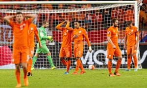 Holland, who finished third at the 2014 World Cup and hammered Spain 5-1 there, will not be at the finals of Euro 2016.