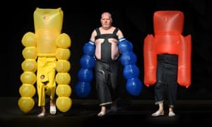 This stuff is ballooning ... models in outfits by University of Westminster student San Kim.