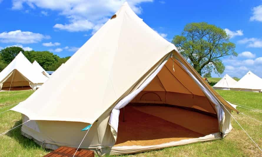 One of the bell tents that will be on the White Moss campsite in the Lake District this summer.