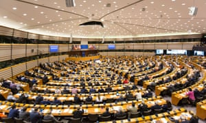 The European parliament in Brussels. Six MEPs have proposed the creation of an EU directive aimed at the alleged targeting of journalists with 'abusive' lawsuits.