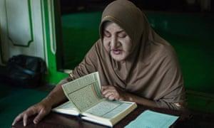 Shinta Ratri, founder of the Pondok Pesantren Waria al-Fatah, the world's only Islamic boarding school for transgender people, in Java, Indonesia.