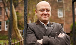 Patrick Harvie MSP of the Scottish Green Party, in the west end of Glasgow